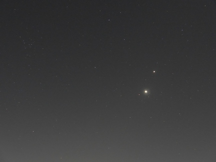Planetentrio Jupiter - Venus - Mars am 31.10.2015
