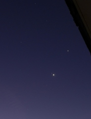 Trio Jupiter - Venus / Mars am 3. November 2015