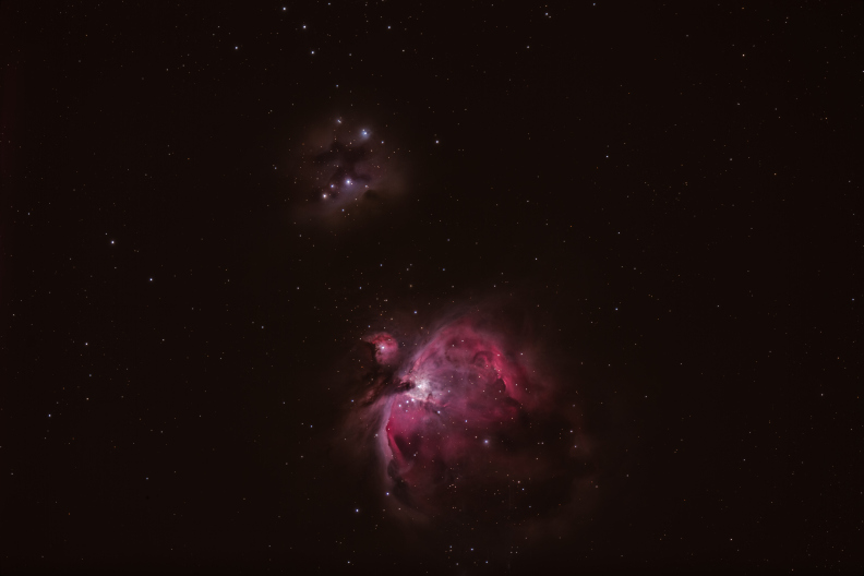 Orion M42 + running man
