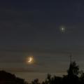 Mondsichel und Venus -- Und wieder zieren Mond und Venus den Abendhimmel über der Nordeifel - hier am Abend des 17. Mai 2018