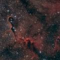 IC 1396 -- vier Nächte und 11 Stunden Belichtung. Die Aufnahmen entstanden in den Nächten 29.05.21 bis 01.06.21 490 Aufnahmen / 120 bis 180 Sekunden