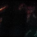 CIRRUS Nebel -- Cirrus Mosaik aus 9 Teilen. Siehe Bericht im Blog  https://astronomie-teilen.de/der-cirrus-experimental/